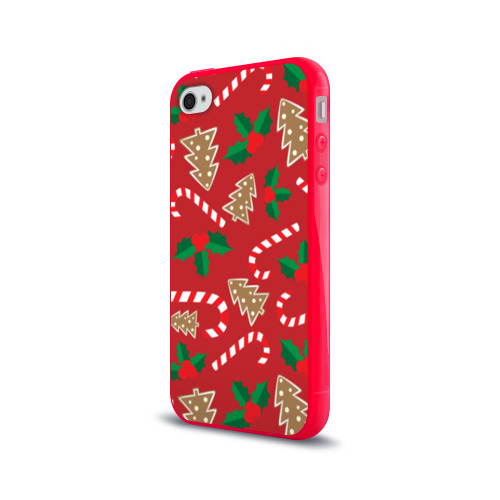 Чехол для Apple iPhone 4/4S силиконовый глянцевый  Фото 03, Новый год