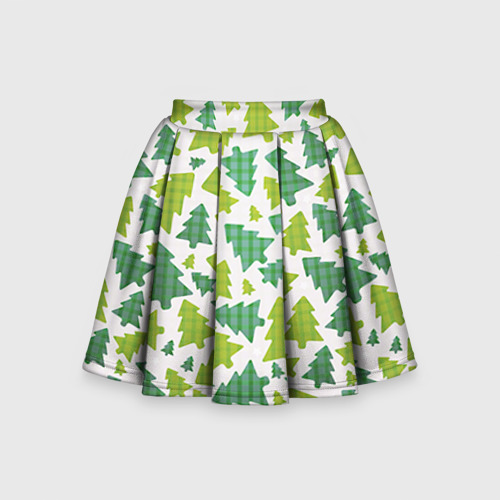 Детская юбка-солнце 3D Ёлочки
