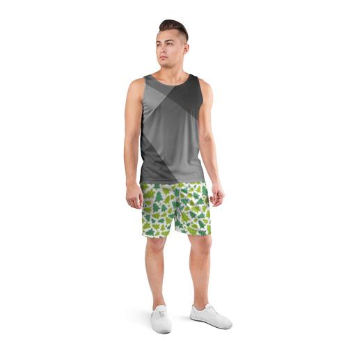 Мужские шорты 3D спортивные  Фото 04, Ёлочки