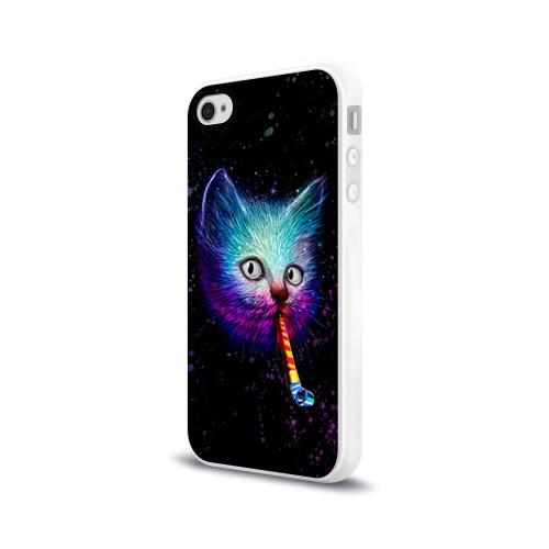 Чехол для Apple iPhone 4/4S силиконовый глянцевый  Фото 03, Космокот