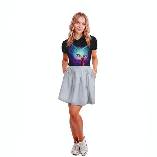 Женская рубашка поло 3D  Фото 04, Космокот