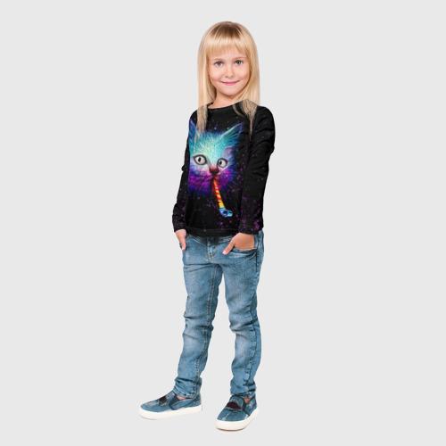 Детский лонгслив 3D  Фото 04, Космокот