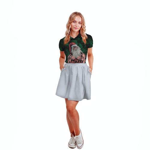 Женская рубашка поло 3D  Фото 04, Metal christmas