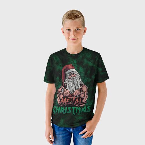 Детская футболка 3D  Фото 01, Metal christmas