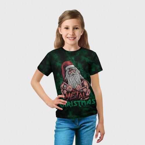 Детская футболка 3D  Фото 03, Metal christmas