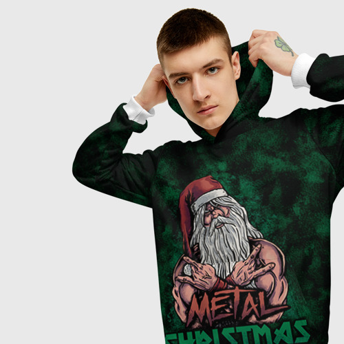 Мужская толстовка 3D Metal christmas