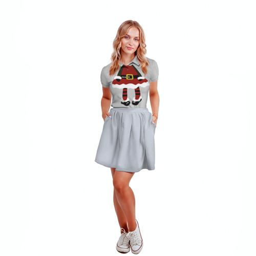 Женская рубашка поло 3D  Фото 04, Эльфик
