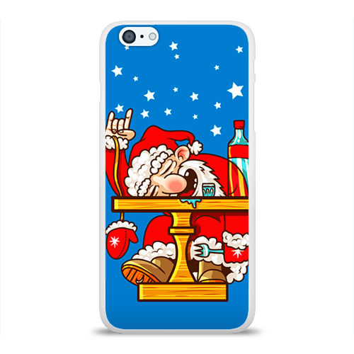 Чехол для Apple iPhone 6Plus/6SPlus силиконовый глянцевый  Фото 01, Дед мороз