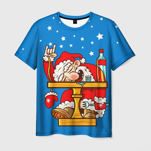 Мужская футболка 3D Дед мороз от Всемайки