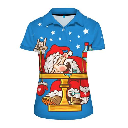 Женская рубашка поло 3D  Фото 01, Дед мороз