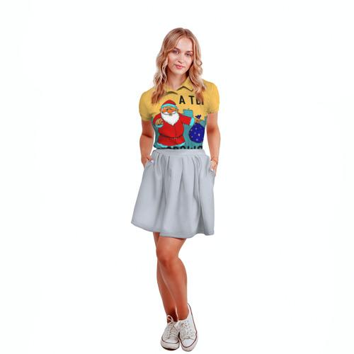 Женская рубашка поло 3D  Фото 04, Хорошо себя вёл