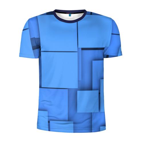 Мужская футболка 3D спортивная Квадрат