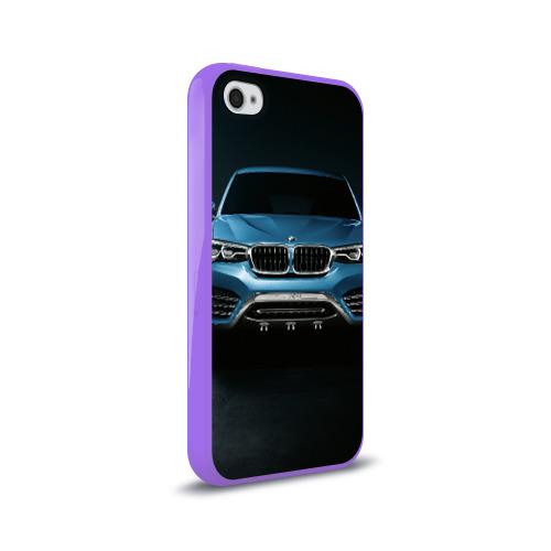 Чехол для Apple iPhone 4/4S силиконовый глянцевый  Фото 02, BMW X4 Concept