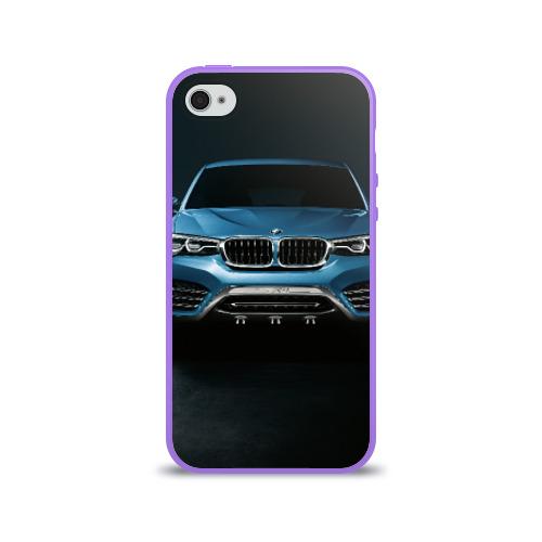 Чехол для Apple iPhone 4/4S силиконовый глянцевый  Фото 01, BMW X4 Concept