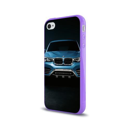 Чехол для Apple iPhone 4/4S силиконовый глянцевый  Фото 03, BMW X4 Concept