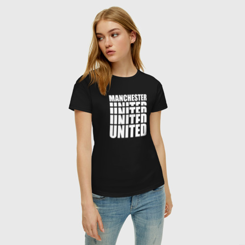 Женская футболка хлопок Manchester United white Фото 01