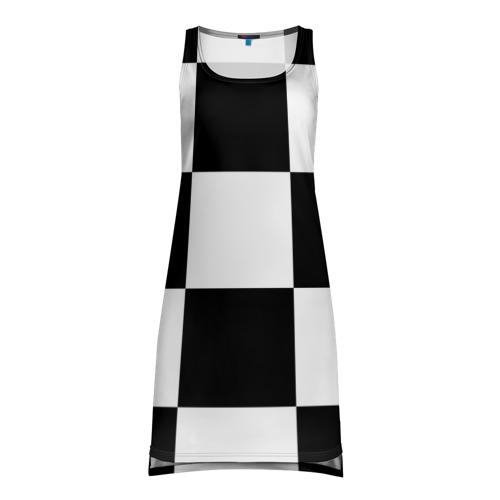 Платье-майка 3D Клетка