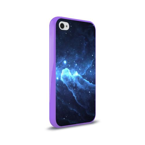 Чехол для Apple iPhone 4/4S силиконовый глянцевый  Фото 02, Космос