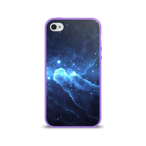 Чехол для Apple iPhone 4/4S силиконовый глянцевый  Фото 01, Космос