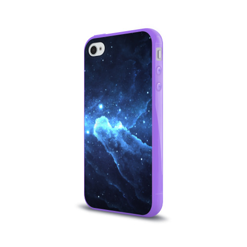 Чехол для Apple iPhone 4/4S силиконовый глянцевый  Фото 03, Космос