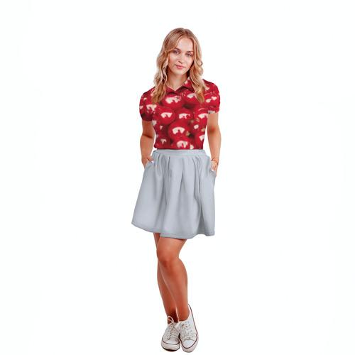 Женская рубашка поло 3D  Фото 04, Redcurrant