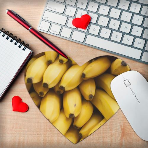 Коврик для мыши сердце  Фото 02, Банан