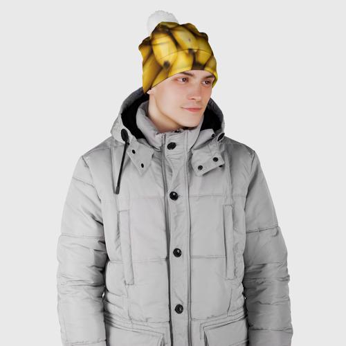 Шапка 3D c помпоном  Фото 02, Банан