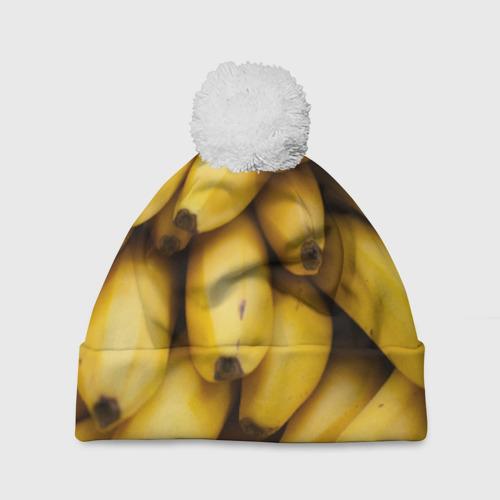 Шапка 3D c помпоном  Фото 01, Банан