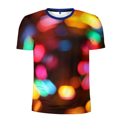 Мужская футболка 3D спортивная Lights Long