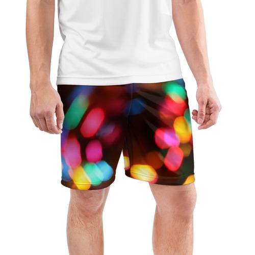 Мужские шорты 3D спортивные  Фото 03, Lights Long