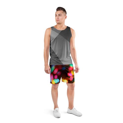 Мужские шорты 3D спортивные  Фото 04, Lights Long