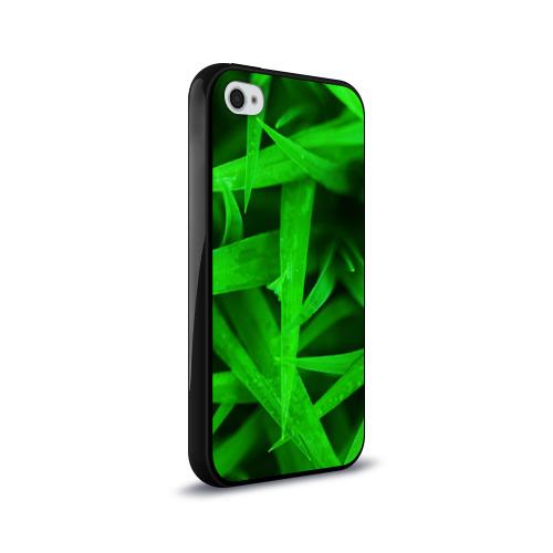 Чехол для Apple iPhone 4/4S силиконовый глянцевый  Фото 02, Трава
