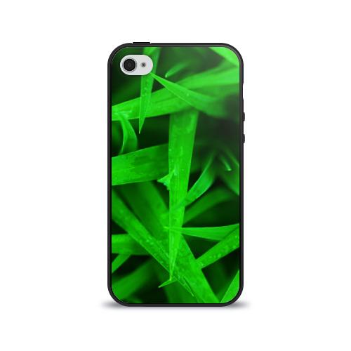 Чехол для Apple iPhone 4/4S силиконовый глянцевый  Фото 01, Трава