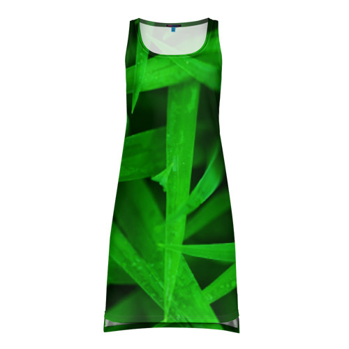 Платье-майка 3D Трава