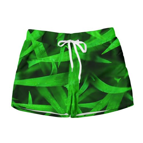 Женские шорты 3D Трава