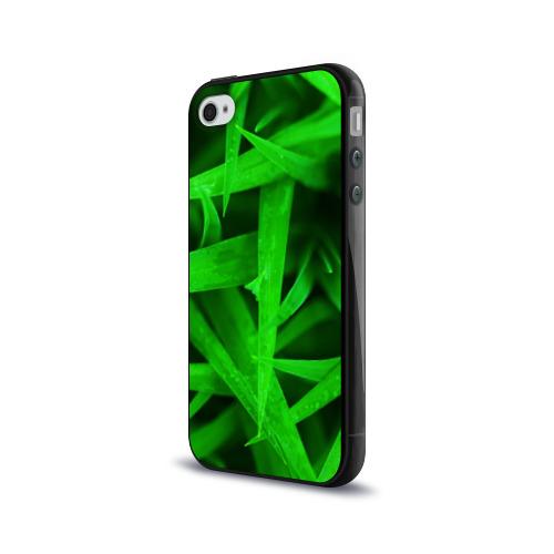 Чехол для Apple iPhone 4/4S силиконовый глянцевый  Фото 03, Трава