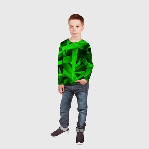Детский лонгслив 3D  Фото 05, Трава