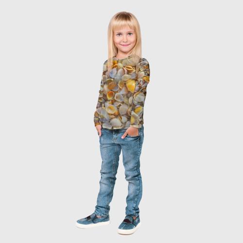 Детский лонгслив 3D  Фото 04, Ракушка