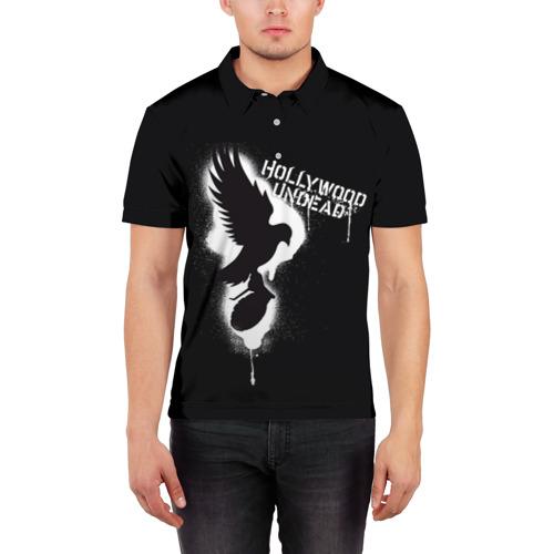 Мужская рубашка поло 3D  Фото 03, Hollywood Undead