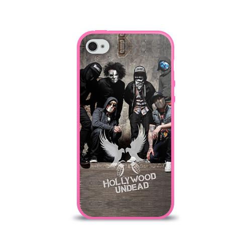 """Чехол силиконовый глянцевый для Apple iPhone 4 """"Hollywood Undead"""" - 1"""