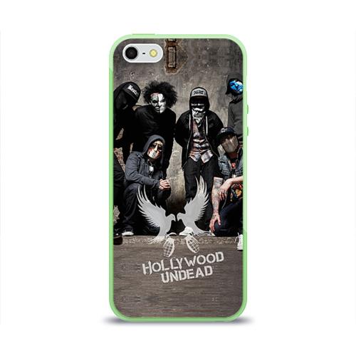 """Чехол силиконовый глянцевый для Apple iPhone 5S """"Hollywood Undead"""" - 1"""