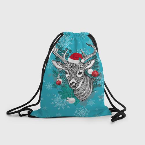 Рюкзак-мешок 3D  Фото 01, Новогодний олень