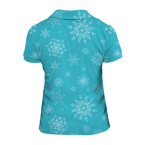 Женская рубашка поло 3D  Фото 02, Новогодний олень