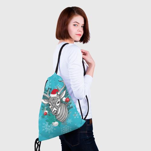 Рюкзак-мешок 3D  Фото 02, Новогодний олень