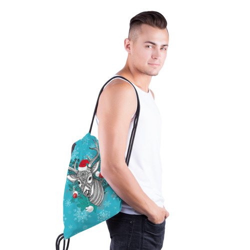 Рюкзак-мешок 3D  Фото 03, Новогодний олень