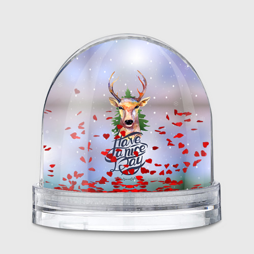 Водяной шар  Фото 01, Новогодний олень