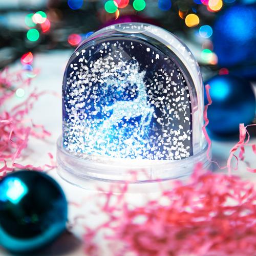 Игрушка Снежный шар Новогодний олень Фото 01