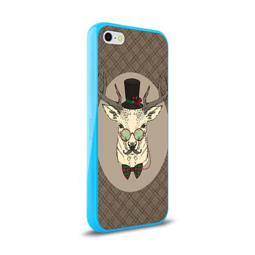 Чехол для Apple iPhone 5/5S силиконовый глянцевый Deer Фото 01