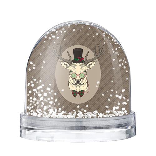 Водяной шар со снегом Deer