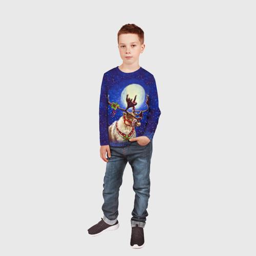 Детский лонгслив 3D  Фото 05, Christmas deer